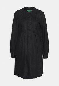 Benetton - DRESS - Skjortekjole - black - 4