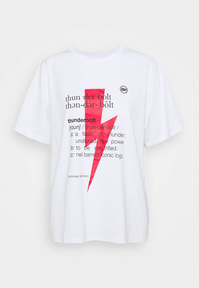 THUNDERBOLT DEFINITION SERIES - T-shirt imprimé - white/red/black