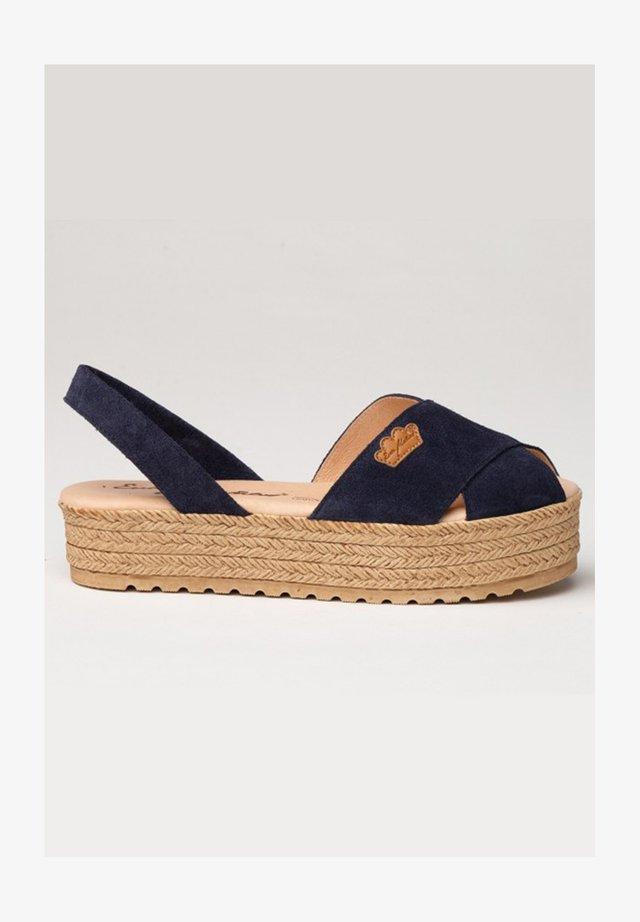 IBICENCA ANTE CRUZ - Sandalias con plataforma - azul marino