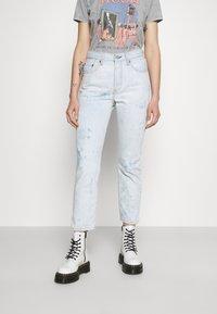 Levi's® - 501 CROP - Jeans straight leg - scribble down lb - 0