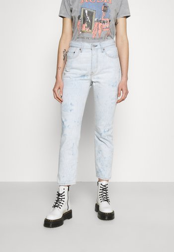 501 CROP - Jeans straight leg - scribble down lb