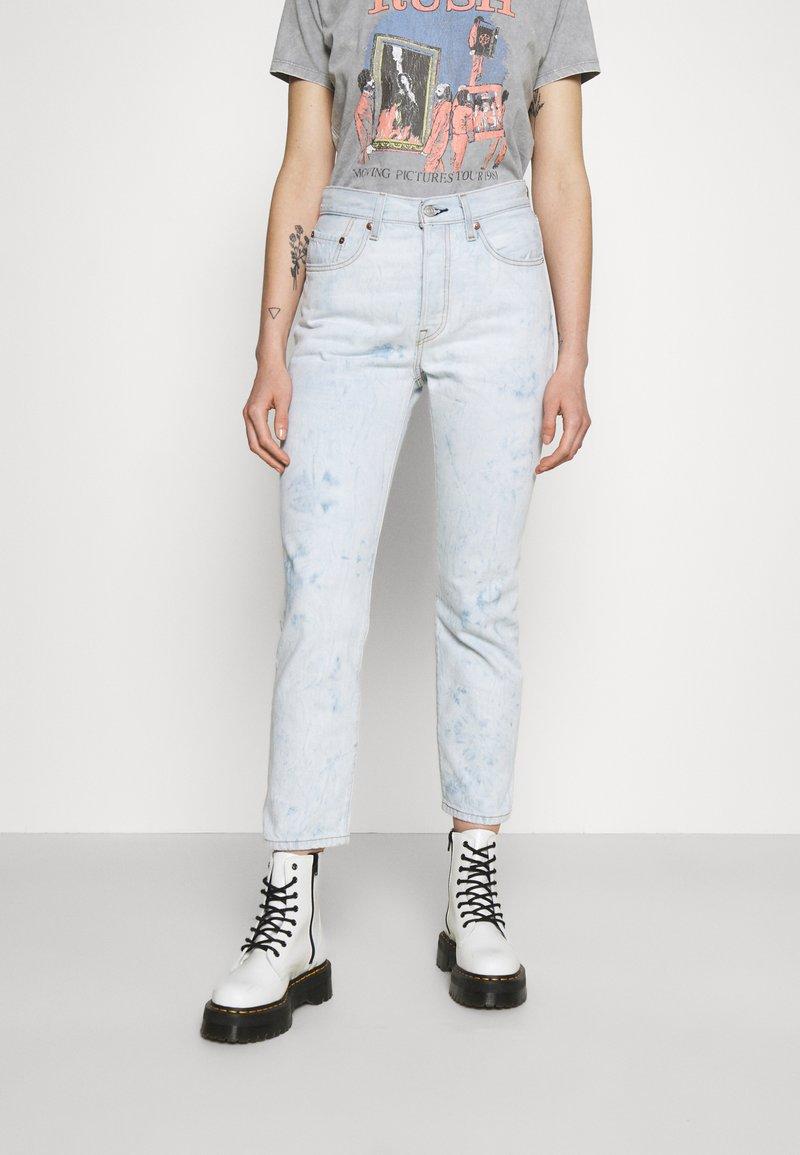 Levi's® - 501 CROP - Jeans straight leg - scribble down lb