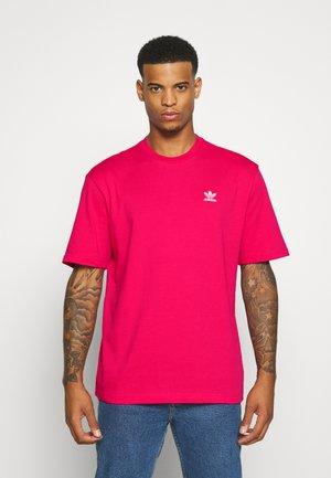 TREFOIL TEE - T-shirt z nadrukiem - powpnk/white