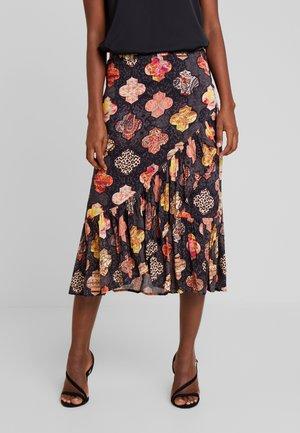 SKIRT LONG - A-line skirt - black
