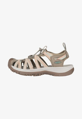 WHISPER - Walking sandals - taupe/coral