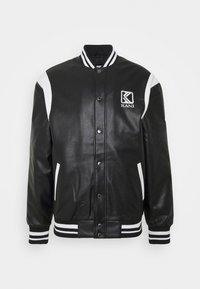 Karl Kani - JACKET UNISEX - Faux leather jacket - black - 0