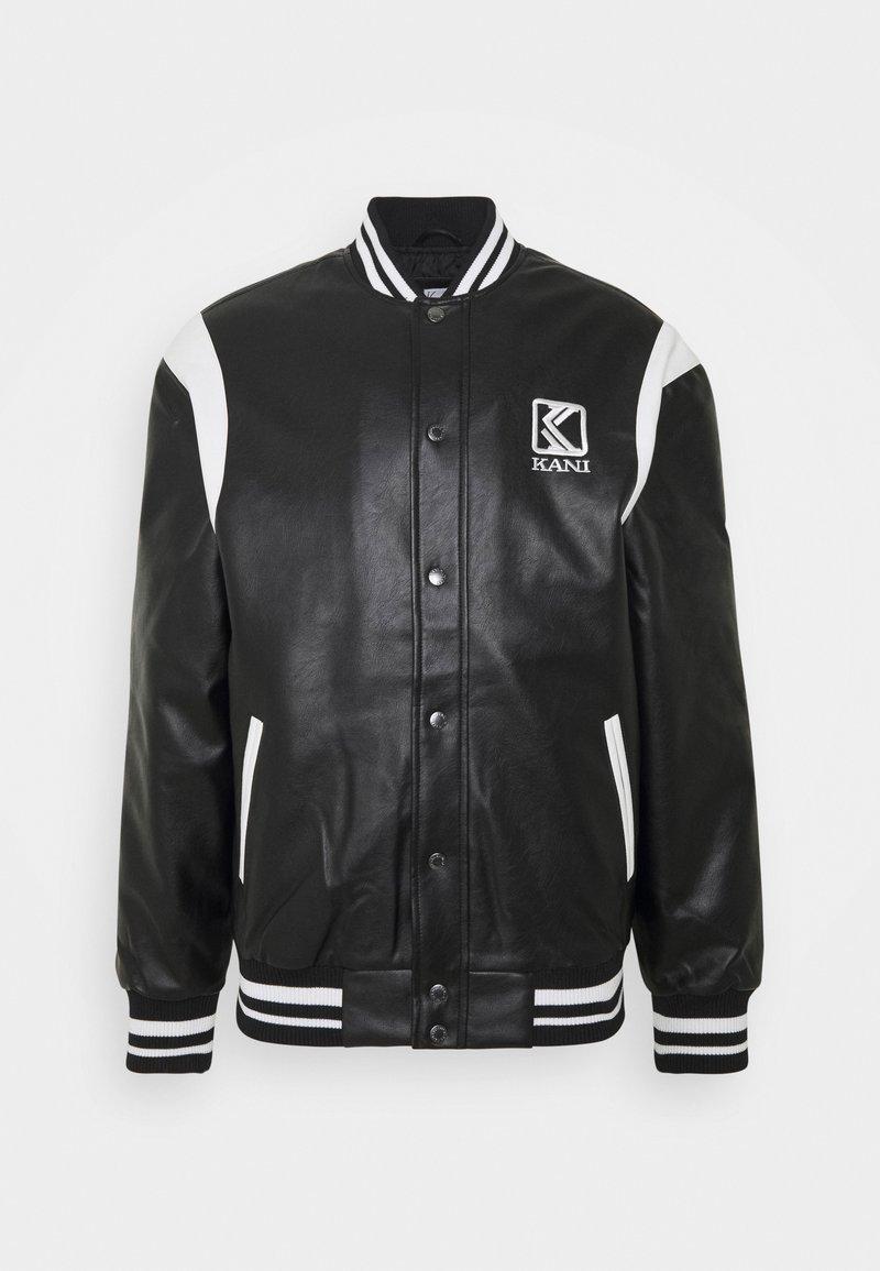 Karl Kani - JACKET UNISEX - Faux leather jacket - black