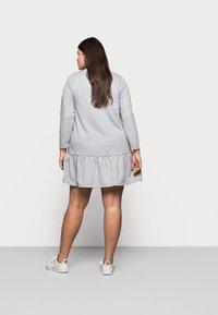 New Look Curves - DROP HEM DRESS - Denní šaty - grey niu - 2