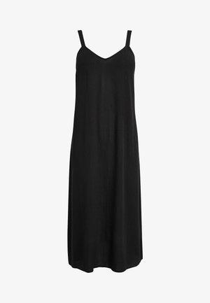 BLACK MIDI SLIP DRESS - Sukienka letnia - black