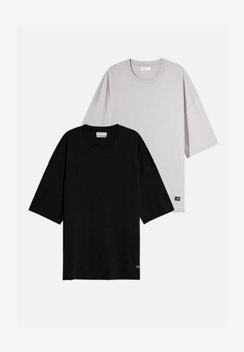 2 PACK - OVERSIZED - Jednoduché triko - mauve