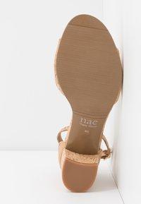 NAE Vegan Shoes - CORA - Sandaalit nilkkaremmillä - beige - 4