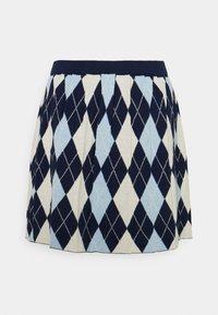 Monki - YANNI - A-linjainen hame - blue/off-white - 1