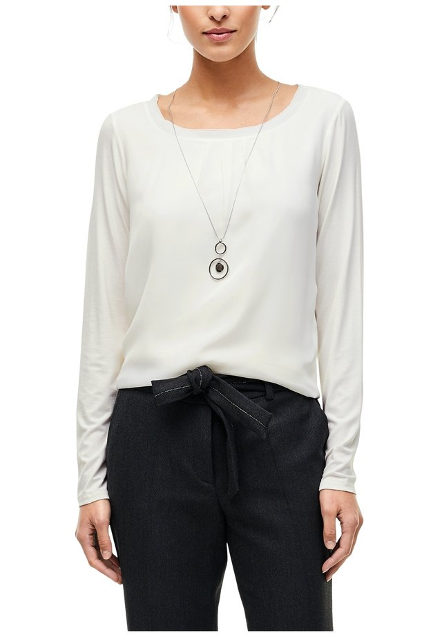 Long sleeved top - soft white