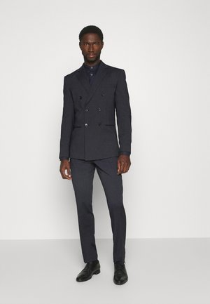 SLIM FIT DOUBLE BREASTED SUIT - Suit - dark blue/grey