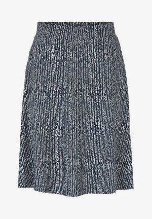 A-line skirt - blue minimal design vertical
