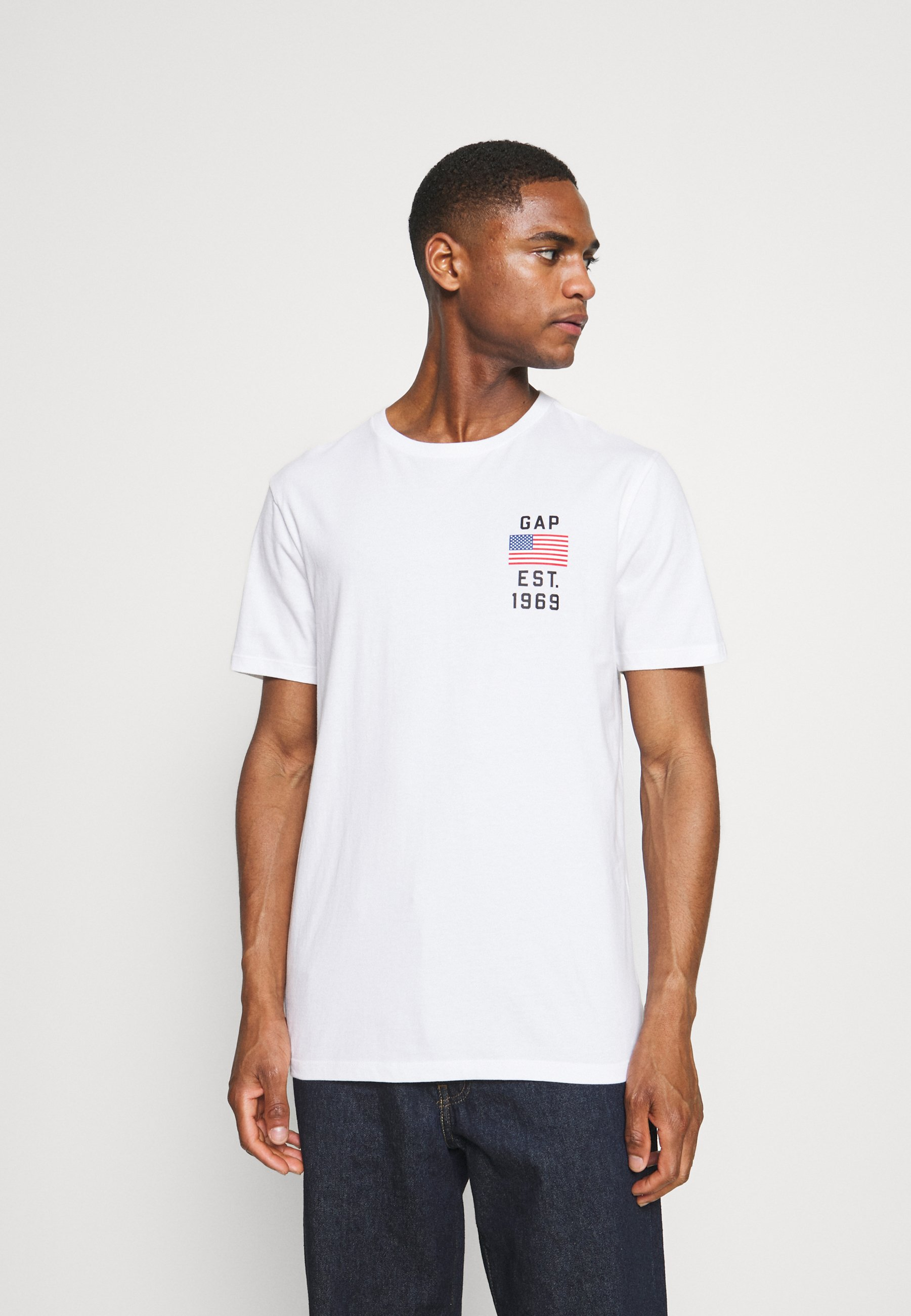 Men LOGO FLAG - Print T-shirt
