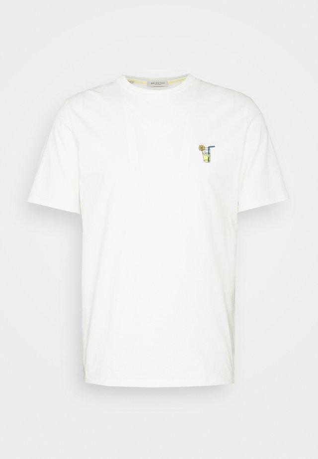 SLHFRESNO  - T-shirt basic - egret