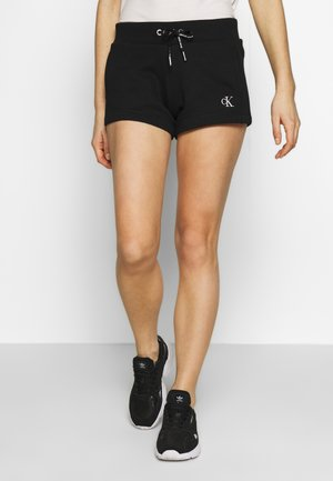 CK EMBROIDERY REGULAR SHORT - Shorts - black