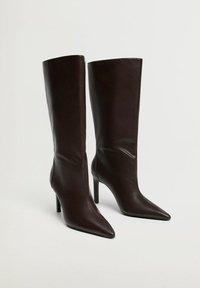 Mango - BERRY - Boots - chocolate - 2
