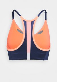 Nike Performance - INDY PRO BRA - Light support sports bra - bright mango/white/midnight navy/metallic silver - 7