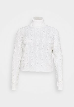 COSTELLO EMBELLISHED CABLE JUMPER - Jumper - cream
