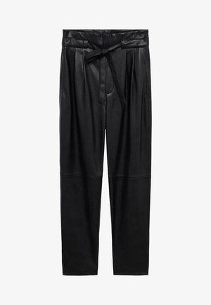PLUM - Trousers - schwarz
