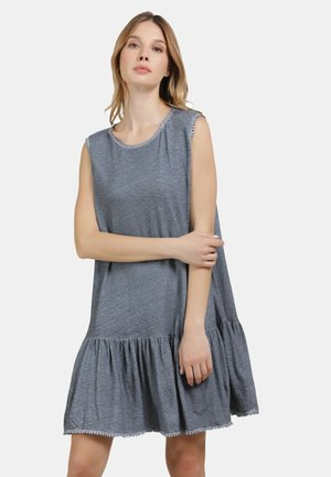 LEINENKLEID - Jersey dress - marine
