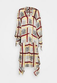 Mother of Pearl - NECK DRESS WITH TIE CUFFS - Vapaa-ajan mekko - burgandy / check - 2
