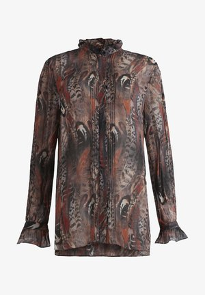 LOUISE FUSION SHIRT - Button-down blouse - brown