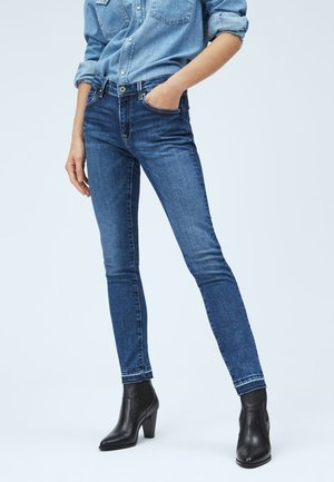VICTORIA - Slim fit jeans - blue denim