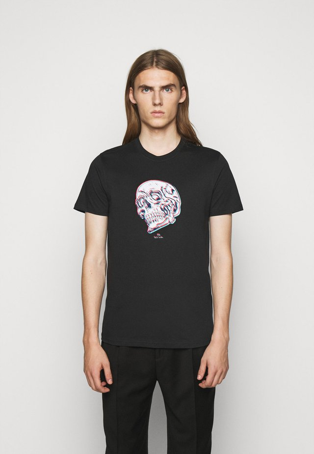 MENS SLIM FIT SKULL - T-shirt med print - black