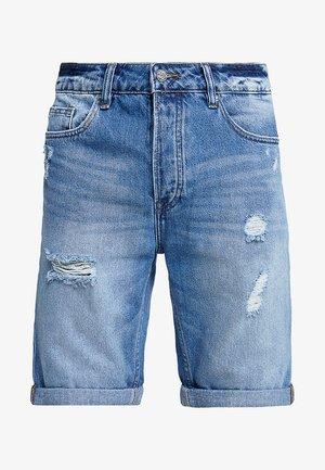 ONSAVI BLUE  - Denim shorts - blue denim