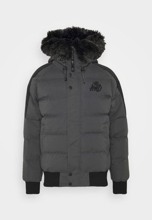 PUFFER BOMBER JACKET - Winter jacket - charcoal