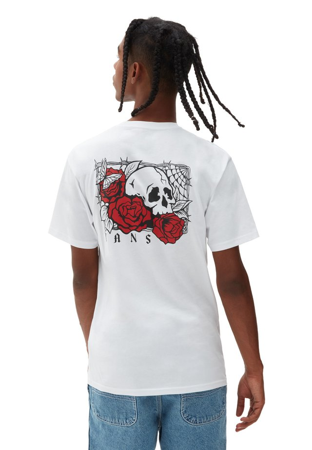 MN ROSE BED SS - T-shirt con stampa - white