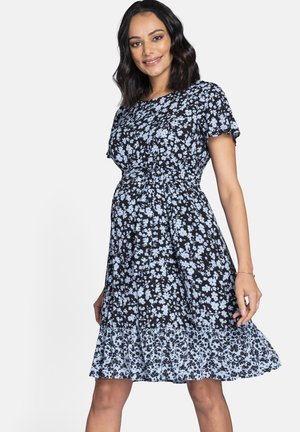 Day dress - blk/flrl