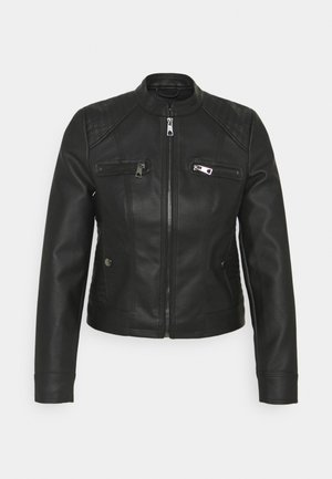 VMTEXAS SHORT JACKET - Faux leather jacket - black
