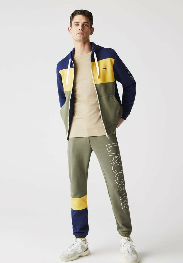 SH0177 - veste en sweat zippée - blau gelb khaki grün