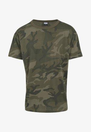 CAMO OVERSIZED - Print T-shirt - olive camo