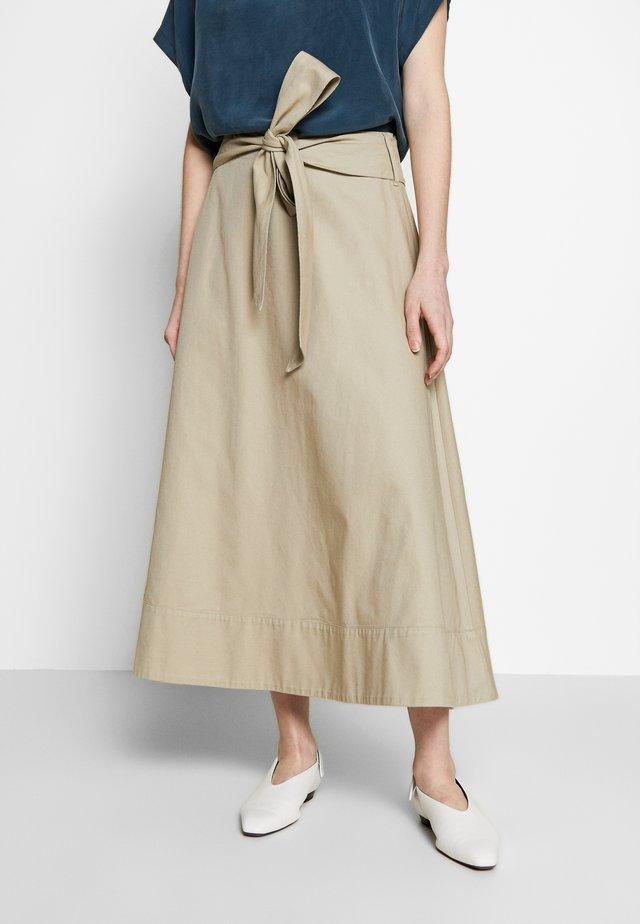 ARVOIS - A-line skirt - sand