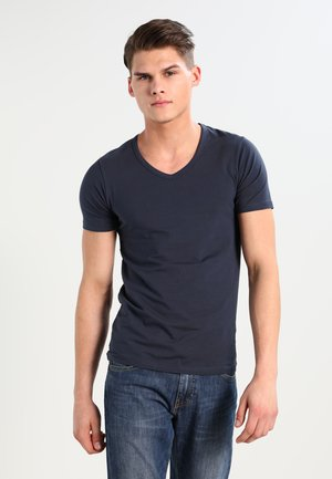 BASIC V-NECK  - Jednoduché triko - navy blue