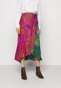 Farm Rio - MIXED JUNGLE SKY WRAP SKIRT - Pencil skirt - multi - 0
