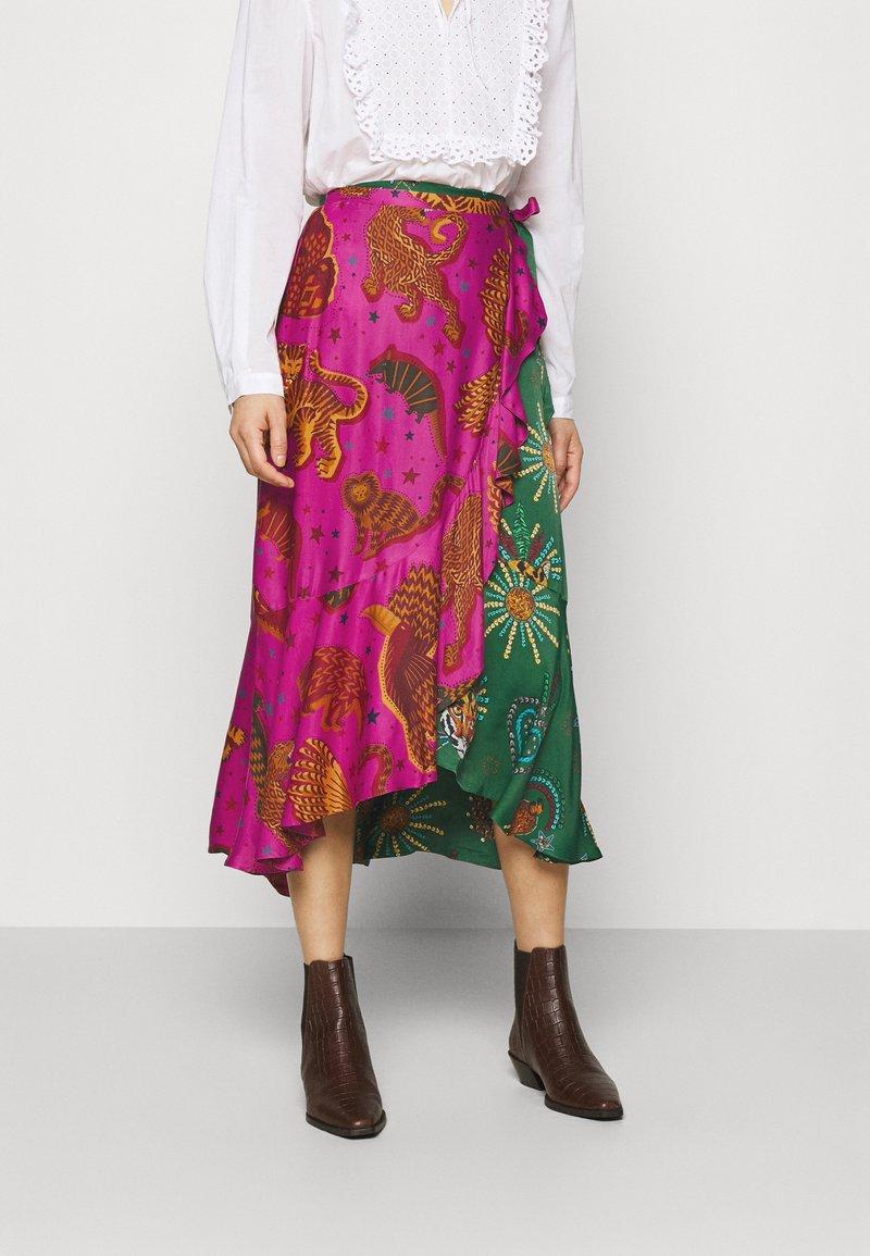 Farm Rio - MIXED JUNGLE SKY WRAP SKIRT - Pencil skirt - multi