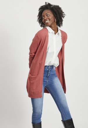 VIRIL OPEN CARDIGAN - Cardigan - Dusty Cedar