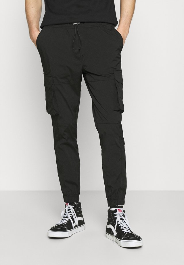 JJIGORDON JJROSS - Pantalon cargo - black