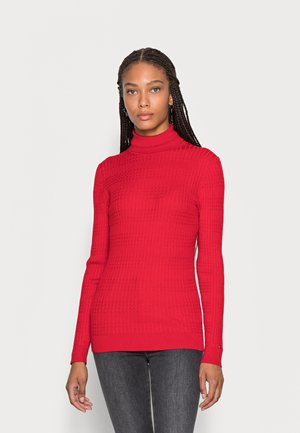 CABLE ROLL SWEATER - Jumper - primary red