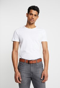 Tommy Jeans - FLAG LOOP BELT  - Belt - beige - 1