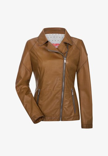 ODA - Leather jacket - cognac
