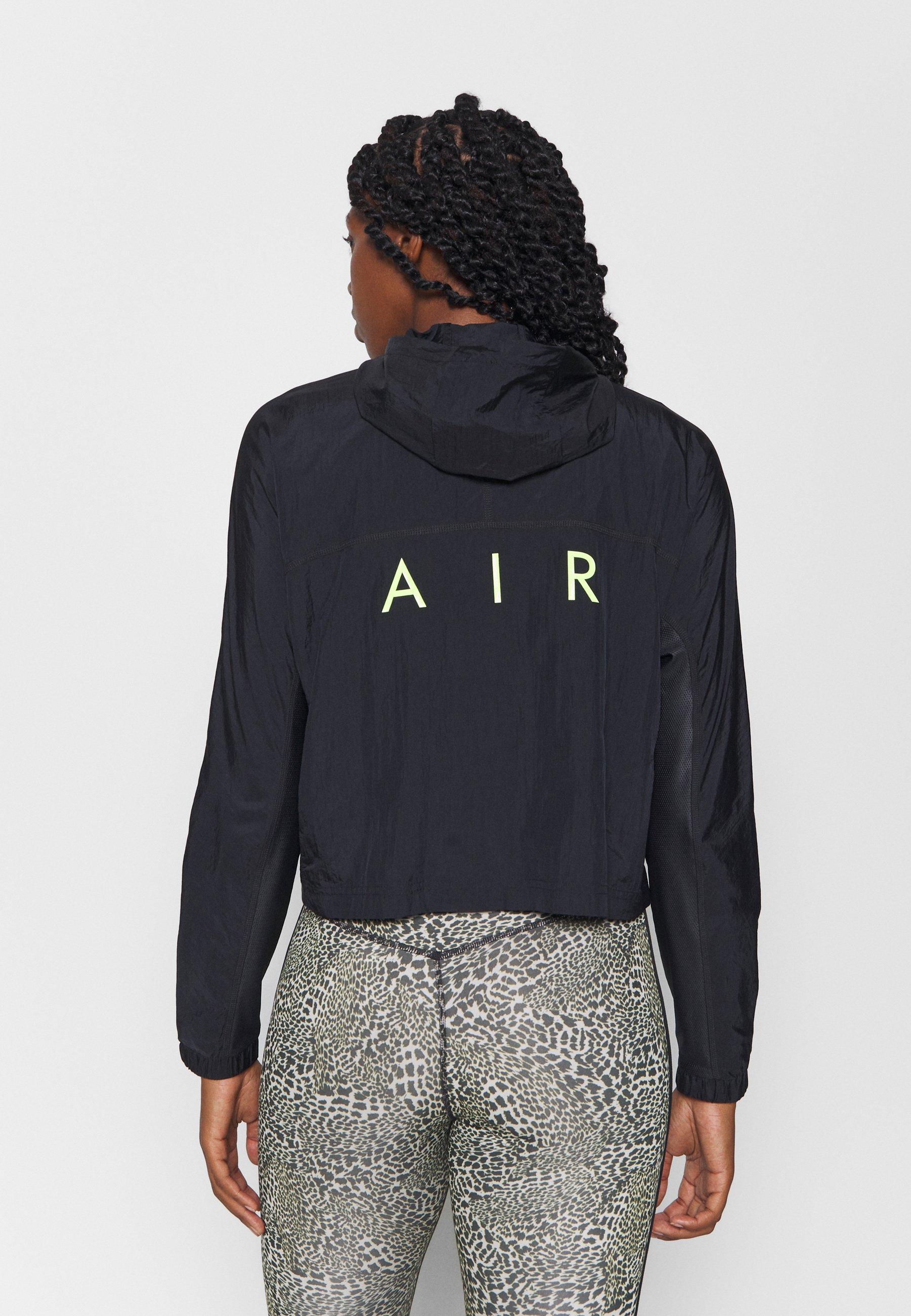 Nike Performance AIR - Sports jacket - black/volt BjDfE