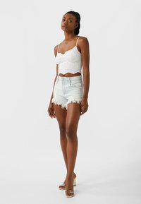 Stradivarius - Denim shorts - blue - 1