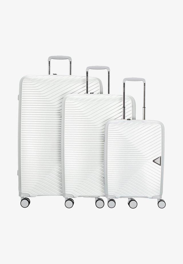 3 PIECES - Luggage set - silver metallic